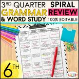 6th Grade Language Spiral Review   6th Grade Grammar Practice   3rd Quarter