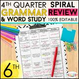 6th Grade Language Homework 6th Grade Daily Language Spira