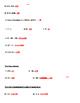 6th Grade Spiral Review #1 Computation Integers Fractions Decimals