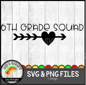 6th Grade Squad SVG Design