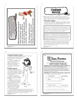 Conventions of Standard English (6 Worksheets + Interactive Notebook Assignment)