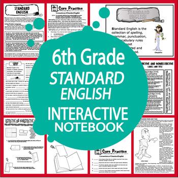 6th Grade Standard English Interactive Notebook Lesson (L.