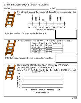 6th Grade Standards Based Grading - Statistics - Editable