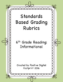 6th Grade Standards Based Rubrics - Reading Informational