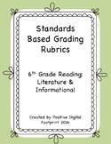 6th Grade Standards Based Rubrics - Reading Lit./Informati