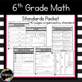 6th Grade Math Common Core Standards Summer Packet