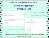 6th Grade State Assessment Practice Test and Answer Key
