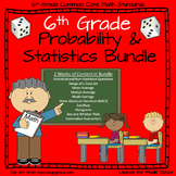 6th Grade Probability and Statistics Bundle - 9 Individual Lessons