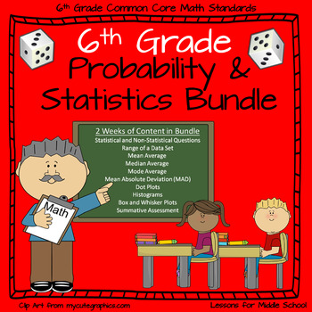 6th Grade Probability and Statistics Bundle - 9 Individual