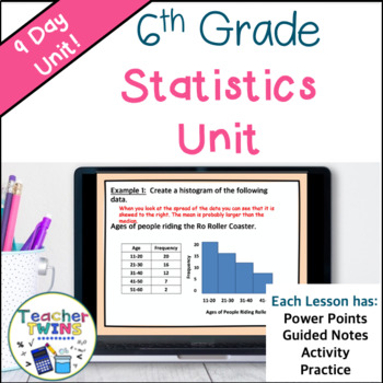 6th Grade Statistics Common Core 6. SP.1, 6.SP.2, 6.SP.3,