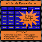 6th Grade Statistics - Game Show Review Game