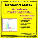 6th Grade Probability and Statistics  - Histograms