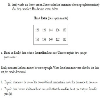 6th Grade Statistics Math Test