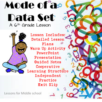 6th Grade Probability and Statistics  - Mode of a Data Set