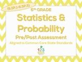 6th Grade Statistics & Probability (6.SP.1 - 6.SP.5) Test Common Core Assessment