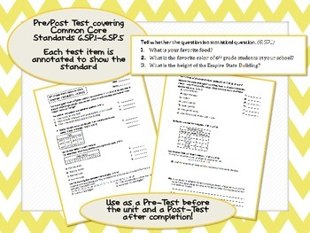 6th Grade Statistics & Probability (6.SP.1 - 6.SP.5) Test Common Core Assessment