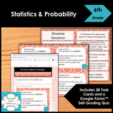 6th Grade Statistics and Probability Math Task Cards