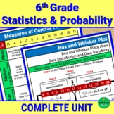 6th Grade Statistics and Probability - Complete Instructional Notes and Practice