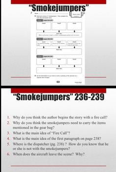 6th Grade Storytown Smokejumpers Unit - Main Idea, Vocab, Grammar, Centers, More