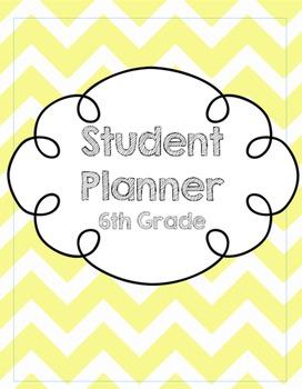 6th Grade Student Planner/Agenda