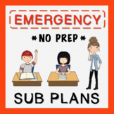 6th Grade Sub Plans (use for Distance Learning)