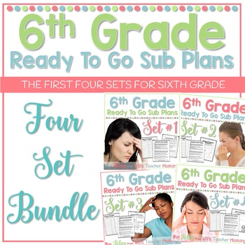 6th Grade Sub Plans Ready To Go for Substitute. No Prep. FOUR full days.