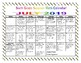 6th Grade Summer Math Calendars