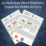 6th Grade Surface Area Word Problems Create the Riddle Activity