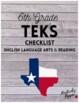 6th Grade TEKS Checklist (6 Weeks Checks)