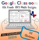 6th Grade TEKS Math Assessments ⭐ Digital Math Quizzes for Google Classroom™