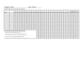 6th Grade Reading TEKS Tracking Chart
