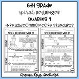 6th Grade TNReady/CCS Daily Spiral Bellringer Review Quarter 4