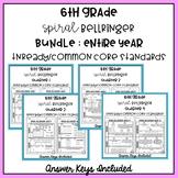 6th Grade TNReady/CCS Spiral Bellringer Review ENTIRE YEAR Bundle