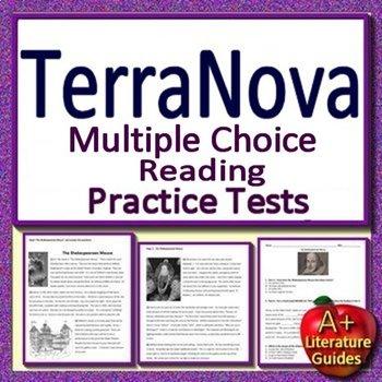 6th Grade TerraNova Test Prep Practice Tests for Reading ELA - Terra Nova Bundle
