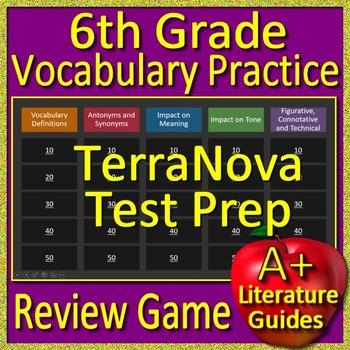 6th Grade TerraNova Test Prep Vocabulary Review Game Terra Nova
