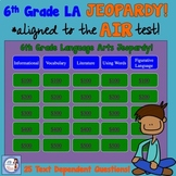 6th Grade Test Prep LA JEOPARDY Game (aligned to AIR test)