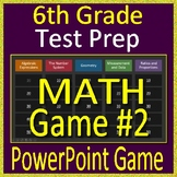 6th Grade Test Prep Math Game #2 Spiral Review CCSS Smarter Balanced