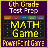 6th Grade Test Prep Math Game Spiral Review CCSS Smarter Balanced