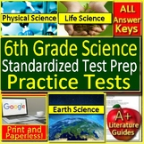 6th Grade Science Test Prep Standardized Tests:  Earth Life Engineering Physical