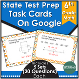 6th grade Math Test Prep Task Cards Using Google