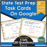 6th grade Math Test Prep Task Cards Activity Using Google
