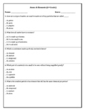 6th Grade Test on Atoms and Elements