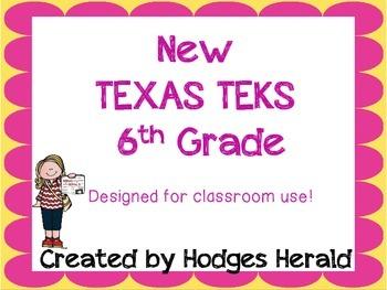 6th Grade Texas Standards