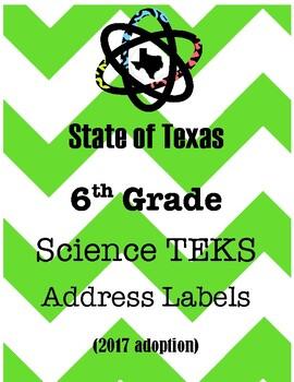 Texas 6th Grade Science TEK Labels