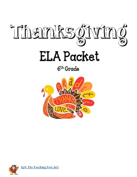 6th Grade Thanksgiving Break Independent Reading Assignment