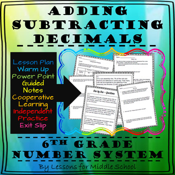 6th Grade – The Number System – Adding and Subtracting Decimals