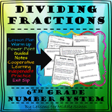 6th Grade – The Number System – Dividing Fractions