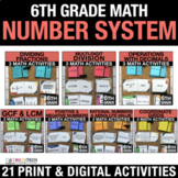 6th Grade Number System Math Bundle | 6th Grade Google Cla