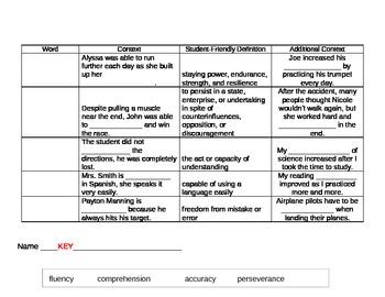 6th Grade Tier 2 Vocabulary Week 1