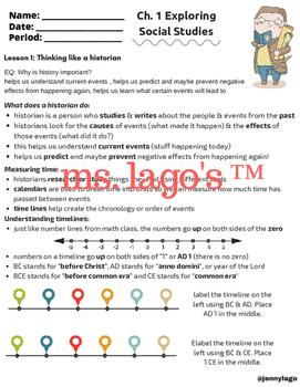 6th Grade US History: Ch. 1 Exploring Social Studies in-cl
